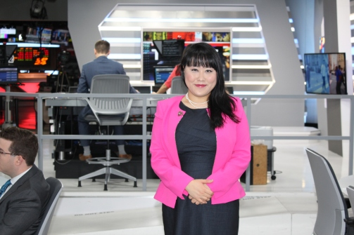 Tina Park at the BNN studio, Toronto