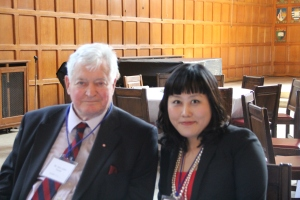 At Pearson Conference, April 2013 with Former Prime Minister of Canada, the Honourable John Turner