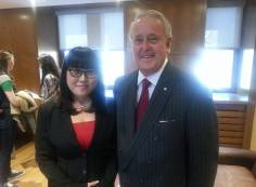 Tina Park and Brian Mulroney