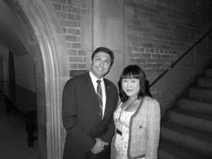 With President David Naylor of the University of Toronto:: Award of Excellence Ceremony at Hart House, April 10, 2013