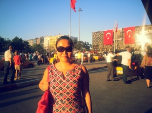 Hello from Taksim Square, Istanbul June 2013 -- protesters were very quiet & peaceful
