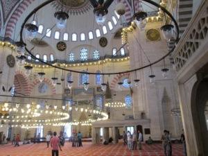 Inside the suleymaniye mosque, Istanbul
