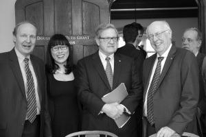 (From left to right) Mr.Geoff Seaborn, Ms. Tina Park, Dr. Lloyd Axworthy and Dr. John English