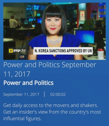 Tina Park and CBC Power and Politics North Korea