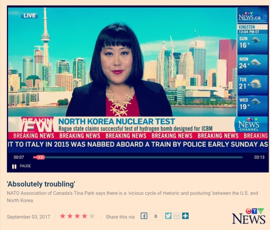 Tina Park and North Korea CTV