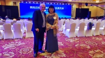 H.E. Bertie Ahern (former Irish Prime Minister) and Dr. Tina Park, Beijing